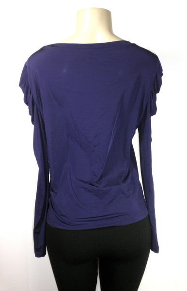 Lafayette 148 Purple Long Sleeve Top - Size Medium - Donated From The Designer
