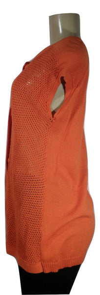 Lafayette 148 Orange Button Down Sleeveless Cardigan - Size Medium - Donated From The Designer