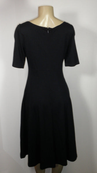Lafayette 148 Navy Blue Flared Dress - Size Small - The Fashion Foundation