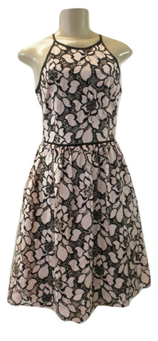 Aqua Pink And Black Floral Embroidery Dress - Size Extra Small, Small and Medium - New With Tags - The Fashion Foundation