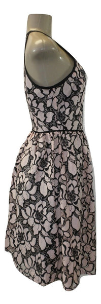 Aqua Pink And Black Floral Embroidery Dress - Size Extra Small, Small and Medium - New With Tags