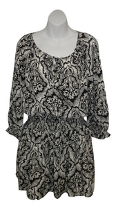 Juicy Couture Black and White Paisley Dress - New With Tags - Size Small - The Fashion Foundation