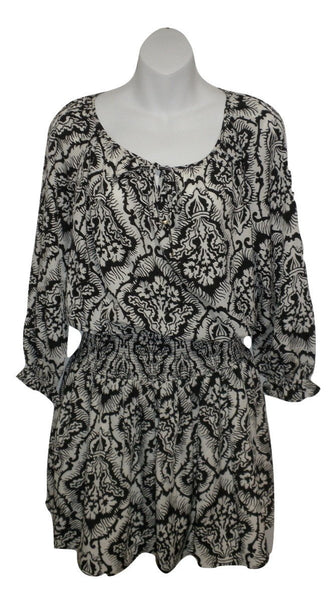 Juicy Couture Black and White Paisley Dress - New With Tags - Size Small