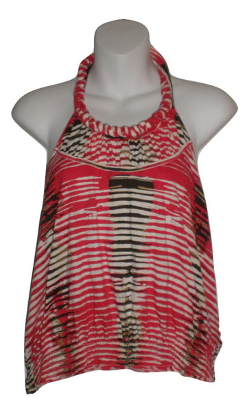Tommy Hilfiger Red Printed Halter Top - Size Large