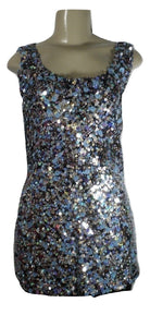 Lafayette 148 Blue Toned Sequined Top - Size 8 - The Fashion Foundation