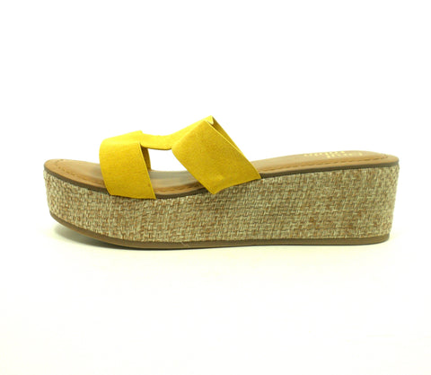 Faryl Robin Mustard Yellow Wedge Heels - Size 6 - The Fashion Foundation