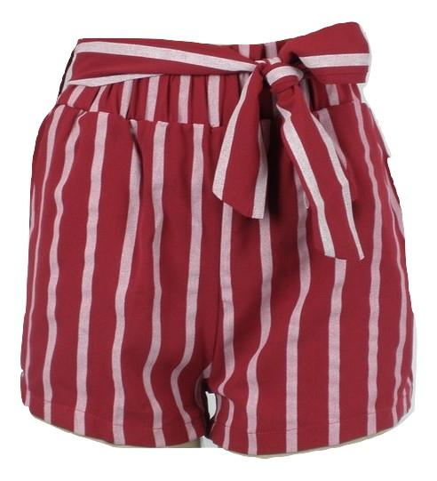 Zaful Red Striped Shorts - Small and Medium - Donated From The Designer - The Fashion Foundation