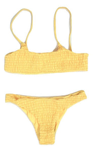Zaful Yellow Smocked Bikini - Size Small - Donated From Designer - The Fashion Foundation