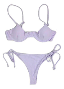 Zaful Lavender Thong Bikini - Size Small - Donated From Designer - The Fashion Foundation