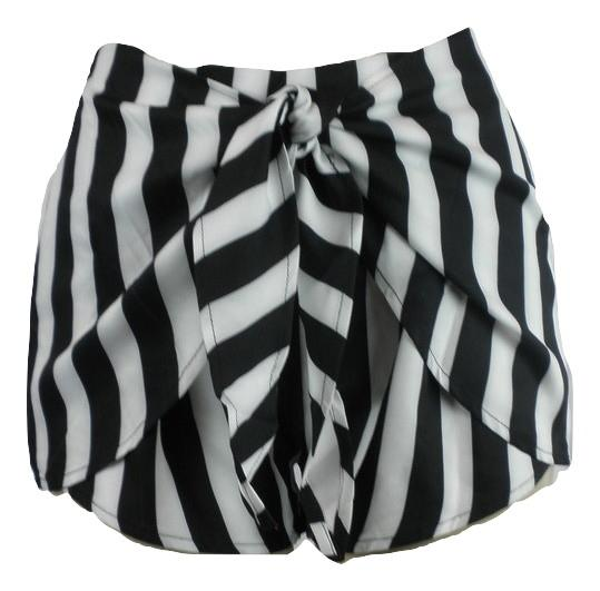 Zaful Black and White Striped Shorts - Small, Medium, Large - Donated From The Designer - The Fashion Foundation