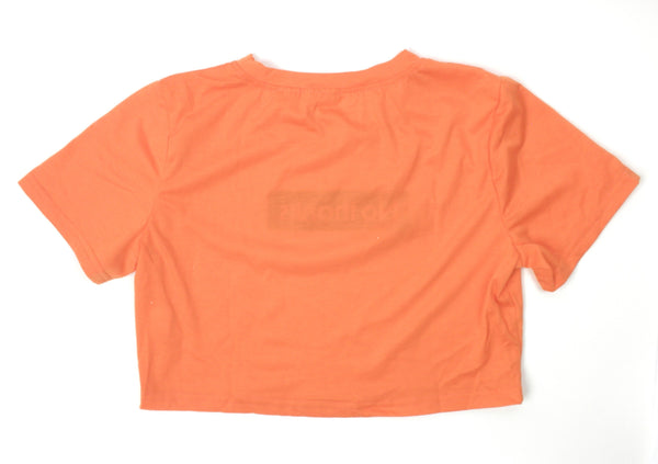 Zaful Orange No Thanks Crop Top - Size Small - Donated From Designer - The Fashion Foundation