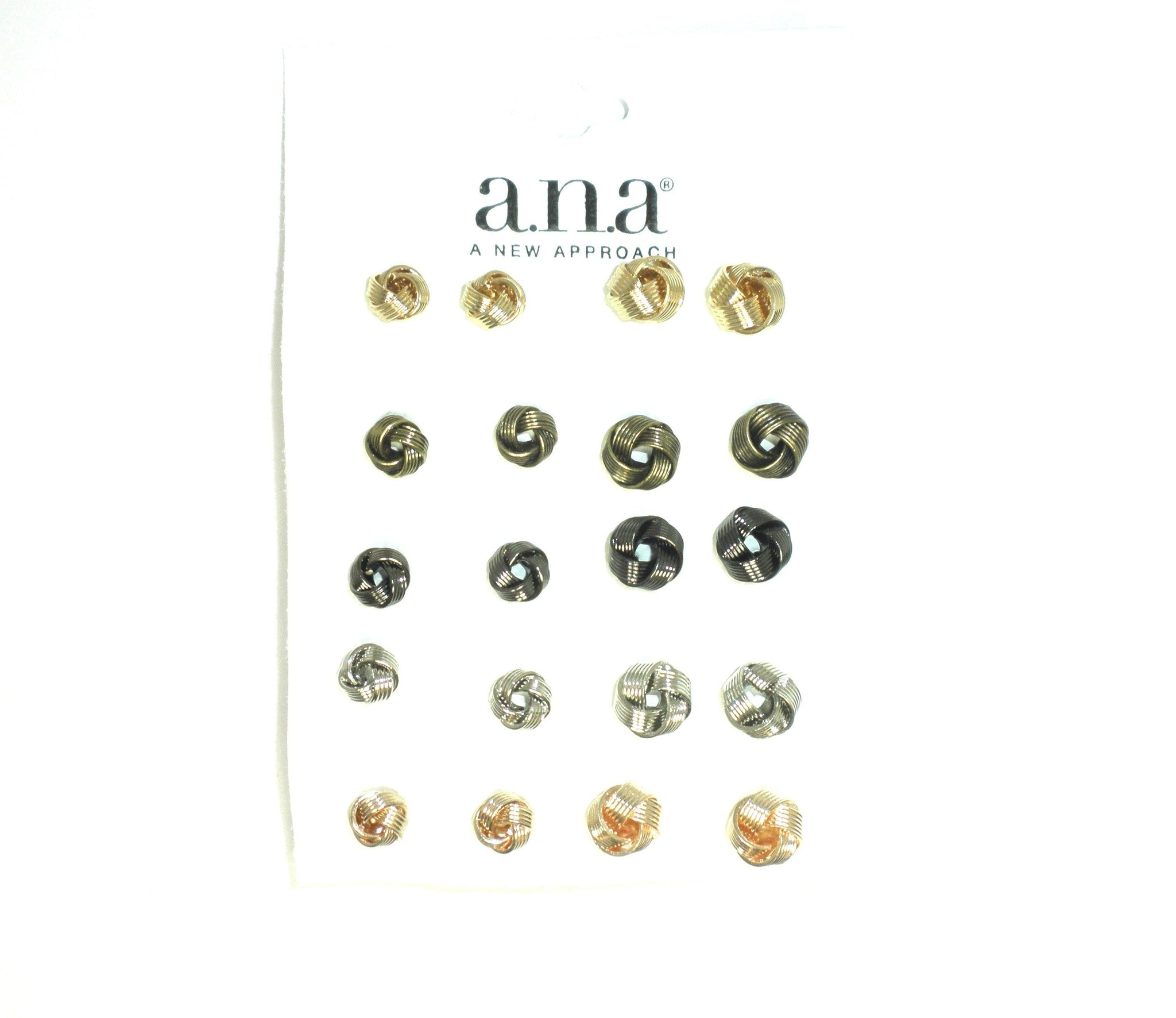 Knotted Stud Earrings in Gold, Bronze, Gray, Silver, and Rose Gold - The Fashion Foundation - {{ discount designer}}