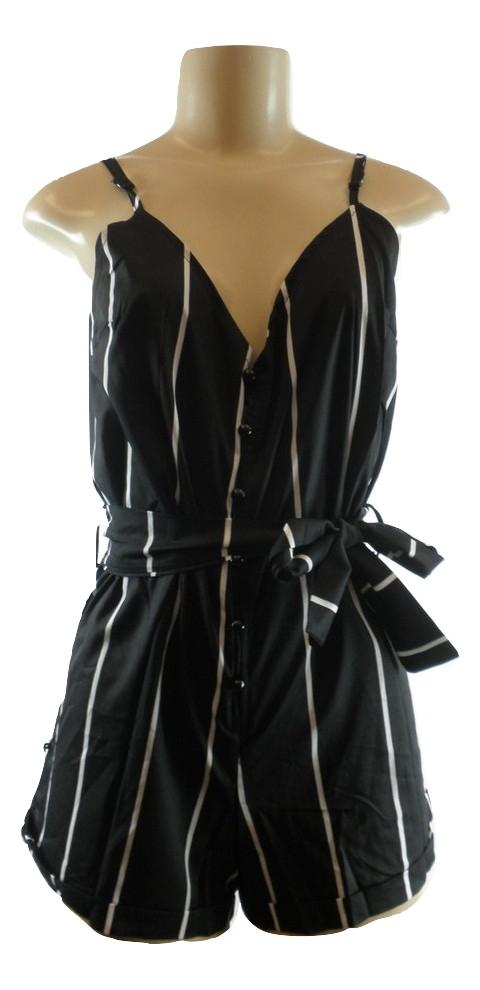 Zaful Black and White Striped Romper - Small - Donated From The Designer - The Fashion Foundation