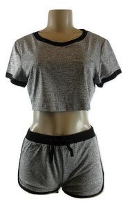 Zaful Gray and Black Athleisure Set - Small or Medium - Donated From The Designer - The Fashion Foundation