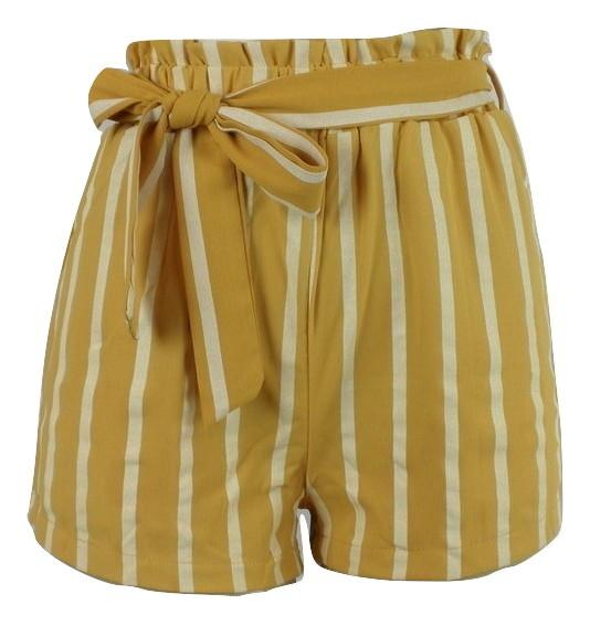 Zaful Yellow Striped Shorts - Small, Medium and Large - Donated From The Designer - The Fashion Foundation