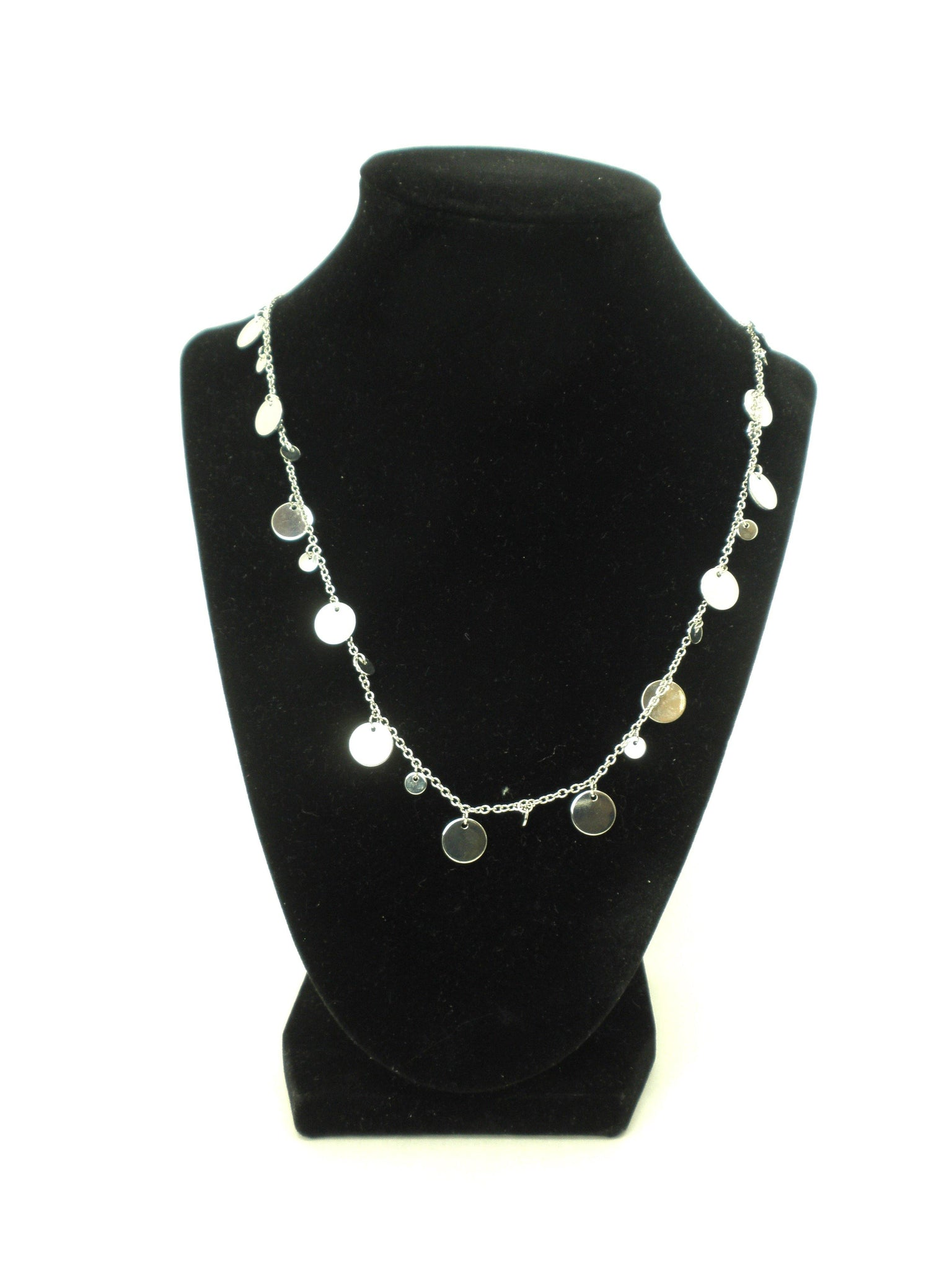 Necklace Lined with Silver Circles