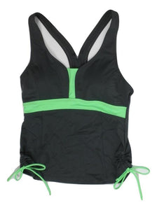 Avia Gray and Green Bathing Suit Top - Medium - Donated From The Designer - The Fashion Foundation