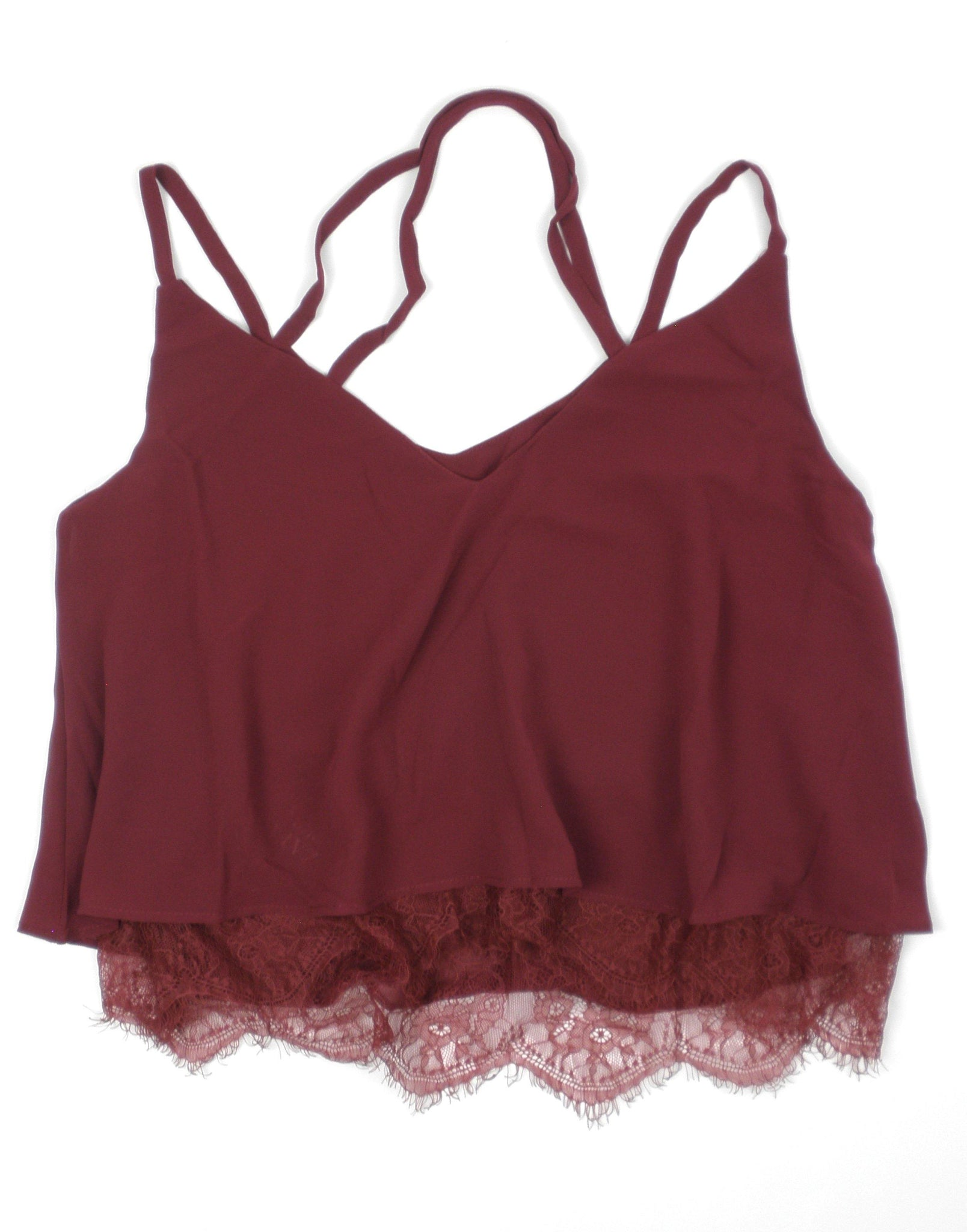Zaful Dark Red Lace Top - Size Medium and Large