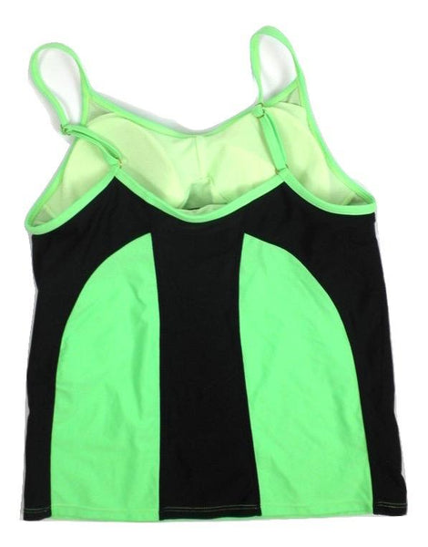 Avia Neon Green and Black Bathing Suit Top - Medium - The Fashion Foundation