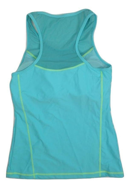 Avia Teal and Yellow Bathing Suit Top - Medium - The Fashion Foundation
