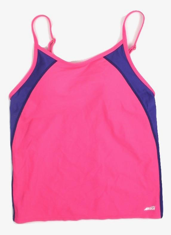 Avia Pink and Purple Black Bathing Suit Top - Medium - The Fashion Foundation