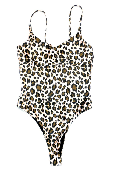 Zaful Leopard One Piece Bathing Suit - Size Small