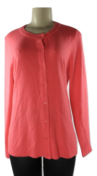 Napa Valley Button Up Coral Sweater - Size Medium - The Fashion Foundation