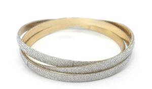 3 Gold and Silver Bangles
