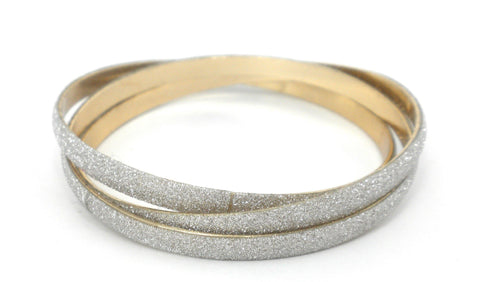3 Gold and Silver Bangles - The Fashion Foundation - {{ discount designer}}