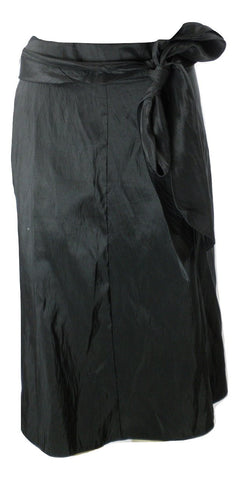 Black Flared Skirt With Bow Tie - Size 2X - The Fashion Foundation