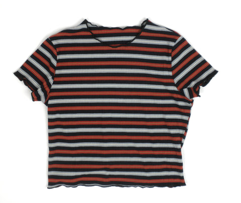 Zaful Red and Blue Striped Top - Small - Donated From Designer - The Fashion Foundation