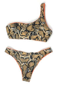 Zaful Snakeskin Reversible Bikini - Size Medium - Donated From Designer - The Fashion Foundation
