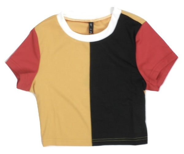 Zaful Yellow, Black and Red Top - Size Small - The Fashion Foundation