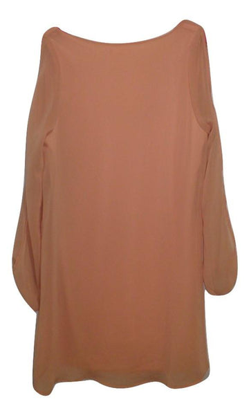 Tobi Peach Open Sleeve Dress -  Size Small
