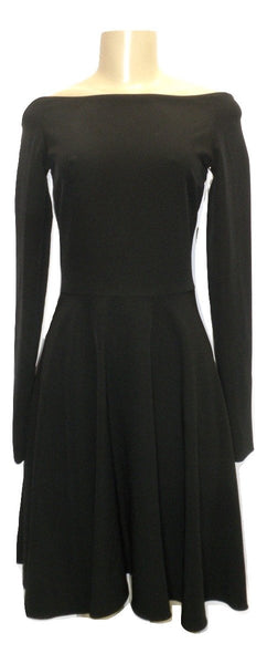 Vera De Nero Black Long Sleeve Skater Dress - Donated From The Designer - Size 0-12