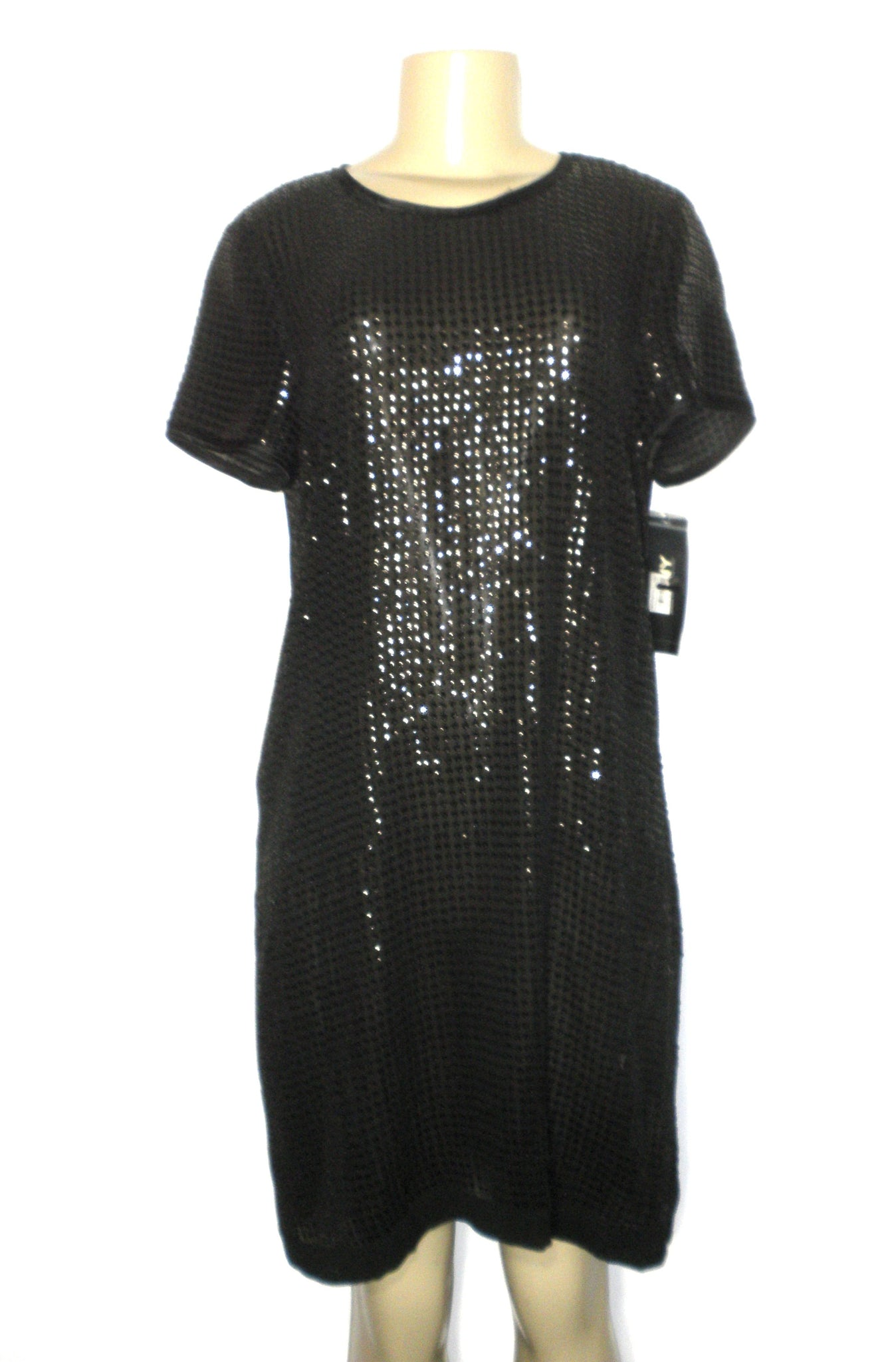 DKNY Black Sequin Dress - Size 10 - New With Tags