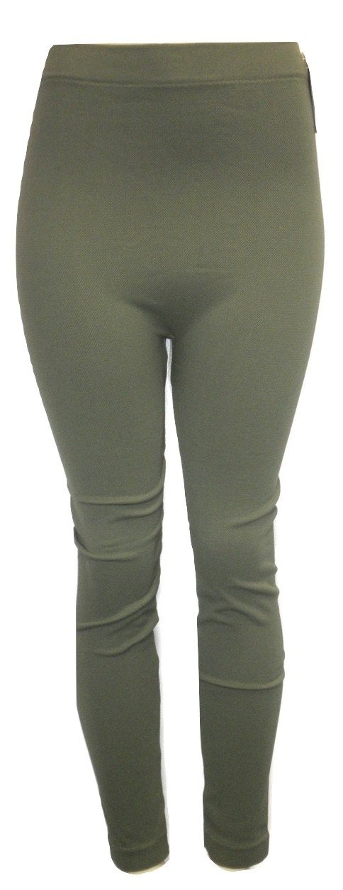 Forest Green Textured Leggings - Size S/M - The Fashion Foundation