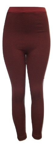 Black and Red Chevron printed Leggings - Size L/XL- Donated From The Designer