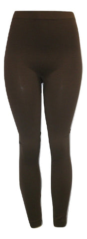 Dark Brown Textured Leggings - Size S/M - Donated From The Designer