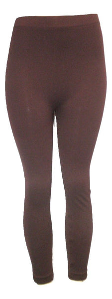 Burgundy Textured Leggings - Size L/XL - The Fashion Foundation