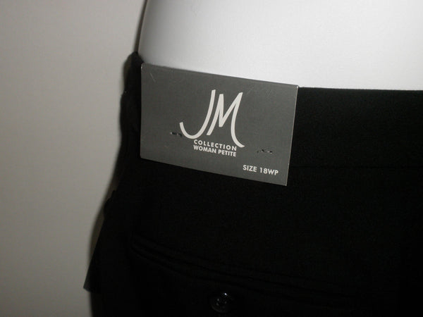 JM Collection Black Trousers - Size 18P - The Fashion Foundation