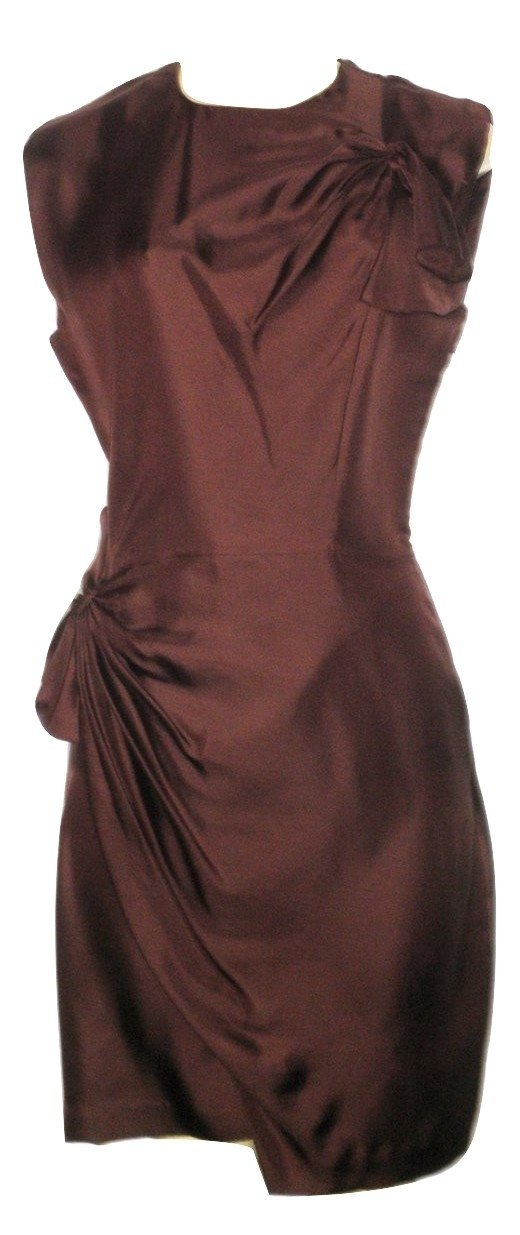 Diane Von Furstenberg Maroon Silk Dress - Size 4 - The Fashion Foundation