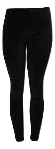Black Textured Velvet Leggings - Size 26-28 - The Fashion Foundation