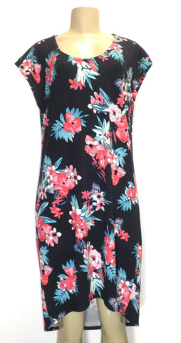 Dept222 Blue Floral Casual Dress - Size Medium - New With Tags