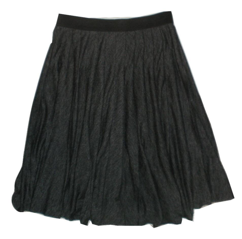 Ann Taylor Gray Pleated Skirt - Size Extra Small