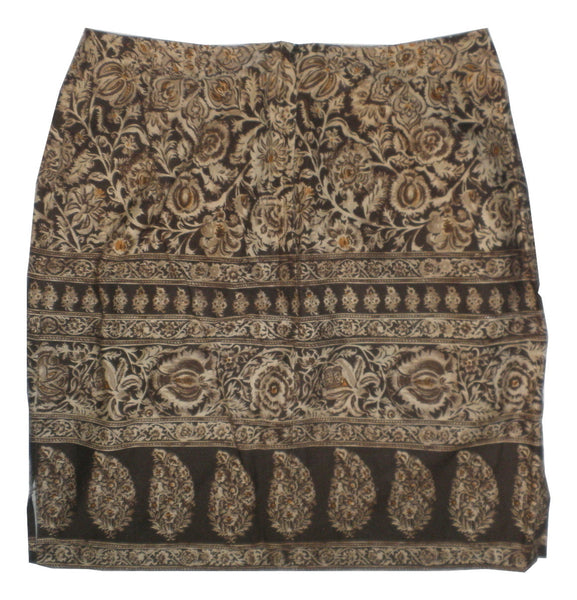 Emanuel Ungaro Brown Printed Skirt - Size 6