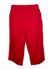 Christopher & Banks Red Capri - Size 14 to 18 - Donated From The Designer
