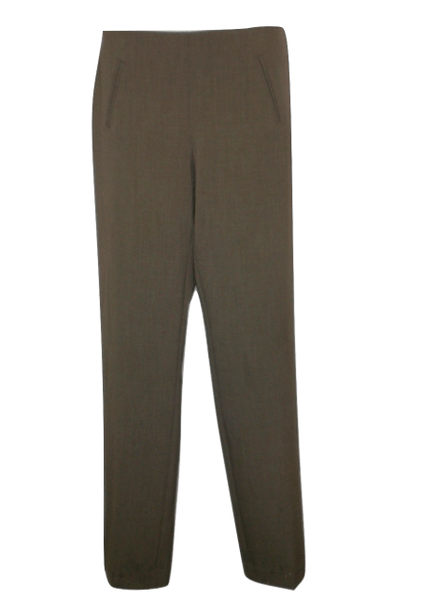 Style & Co Taupe Straight Leg Trousers - Size 4P - Donated From The Designer