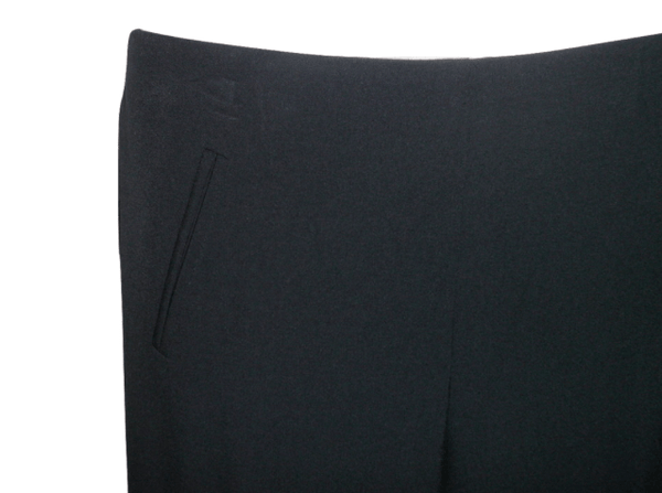 Style & Co Navy Straight Leg Trousers - Size 4P to 10P - Donated From The Designer - The Fashion Foundation