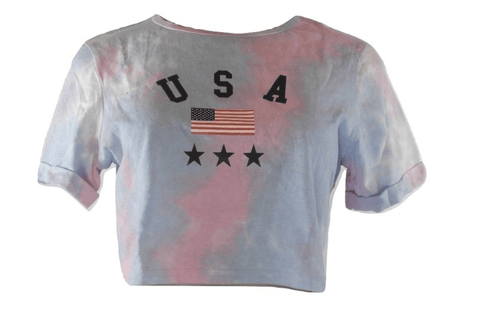 Zaful Tie Dye USA Crop Top - Size Small -  Donated From Designer